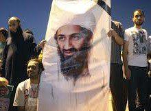 cartazes de Bin Laden